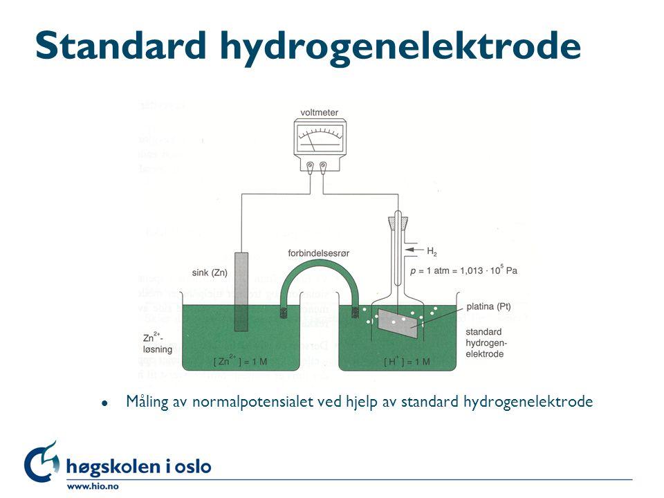 Standard hydrogenelektrode l Måling av normalpotensialet ved hjelp av standard hydrogenelektrode