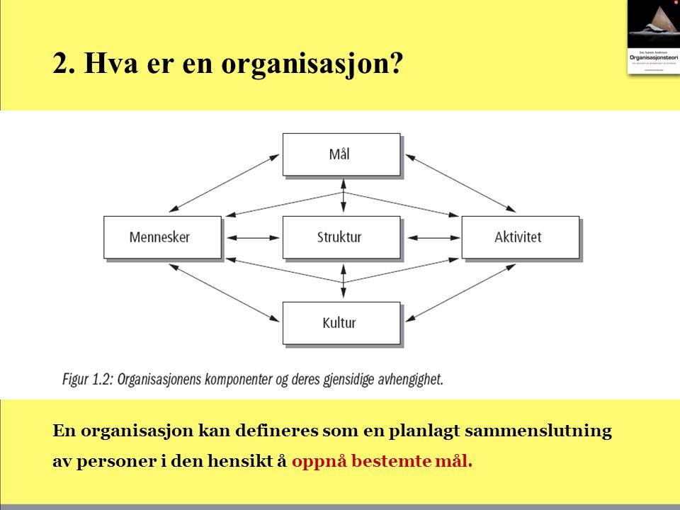 2.Hva er en organisasjon.