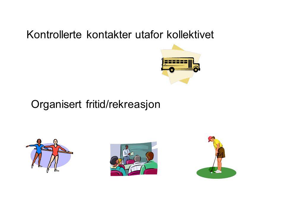 Kontrollerte kontakter utafor kollektivet Organisert fritid/rekreasjon