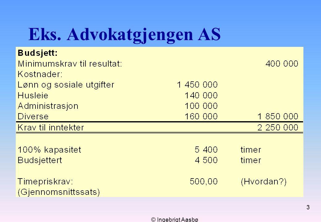 © Ingebrigt Aasbø 3 Eks. Advokatgjengen AS