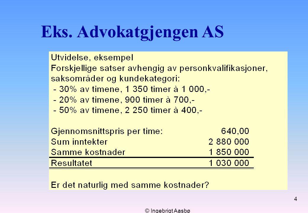 © Ingebrigt Aasbø 4 Eks. Advokatgjengen AS