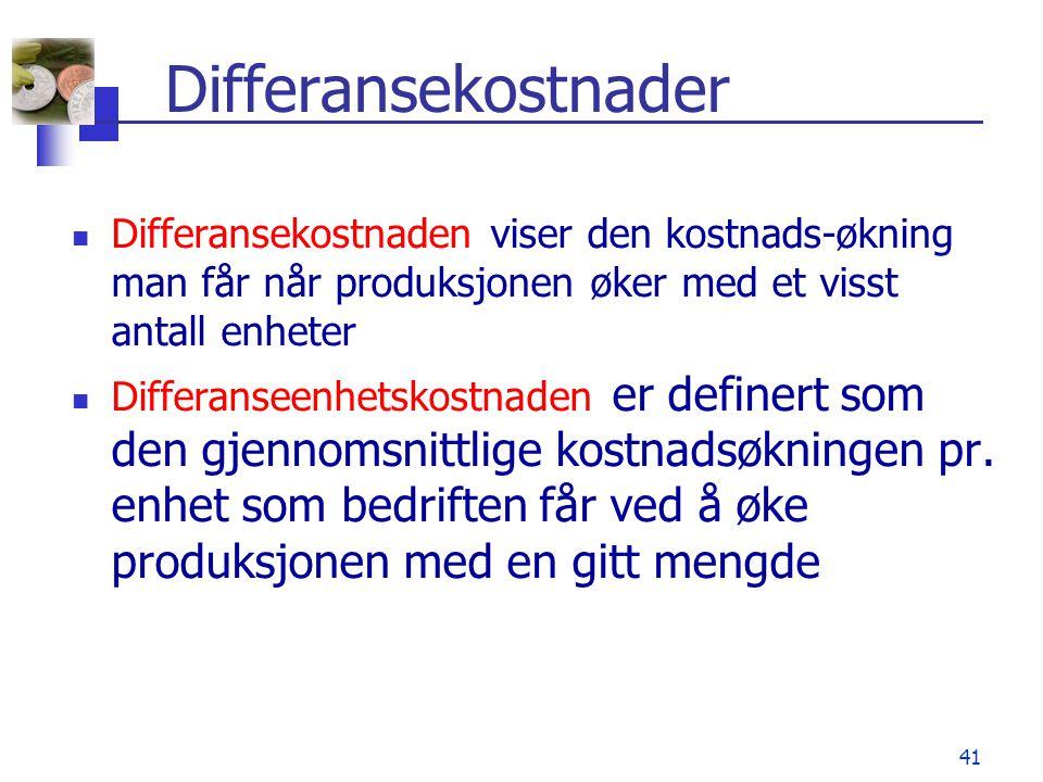 Differanseenhetskostnad