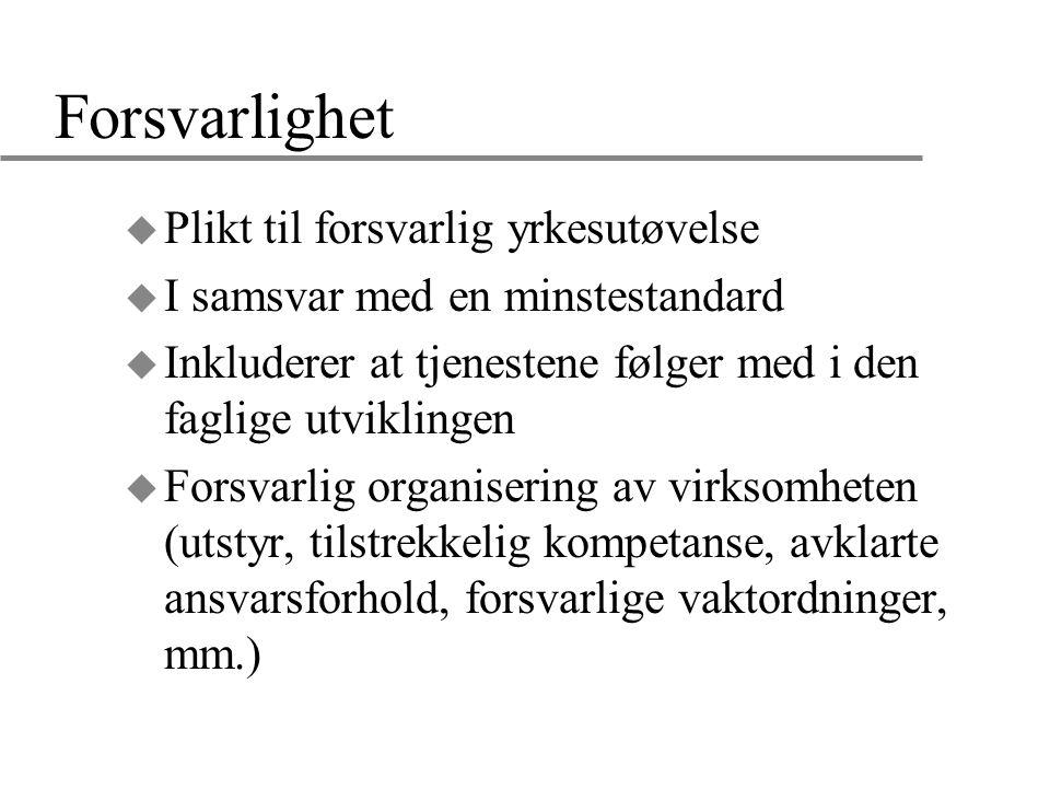 Veiledningsplikt overfor kommunehelsetjenesten (§7-4) u Helsepersonell i spesialisthelsetjenesten (dvs.