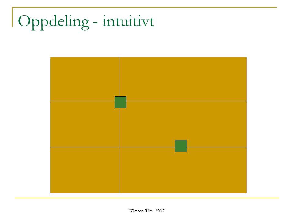 Kirsten Ribu 2007 Oppdeling - intuitivt