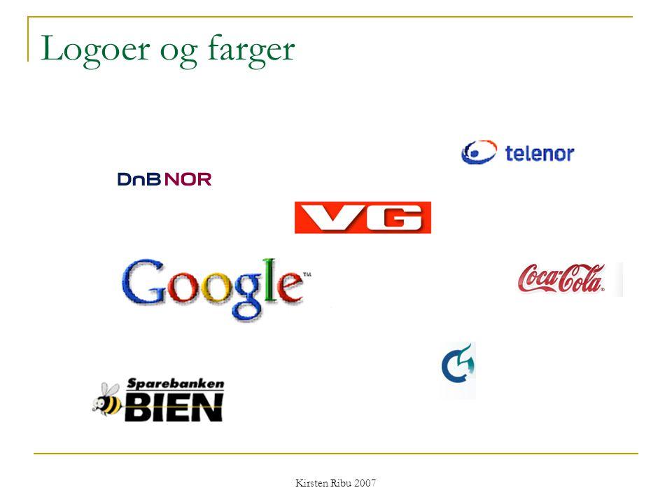 Kirsten Ribu 2007 Logoer og farger