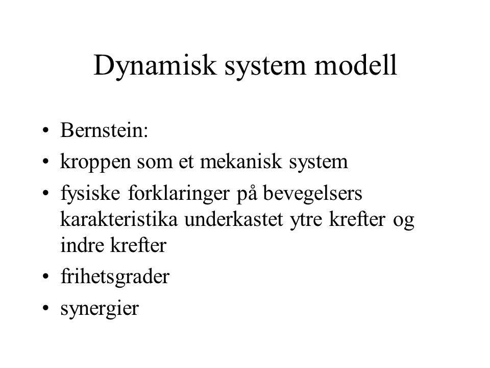 Dynamisk system modell Bernstein: kroppen som et mekanisk system fysiske forklaringer på bevegelsers karakteristika underkastet ytre krefter og indre