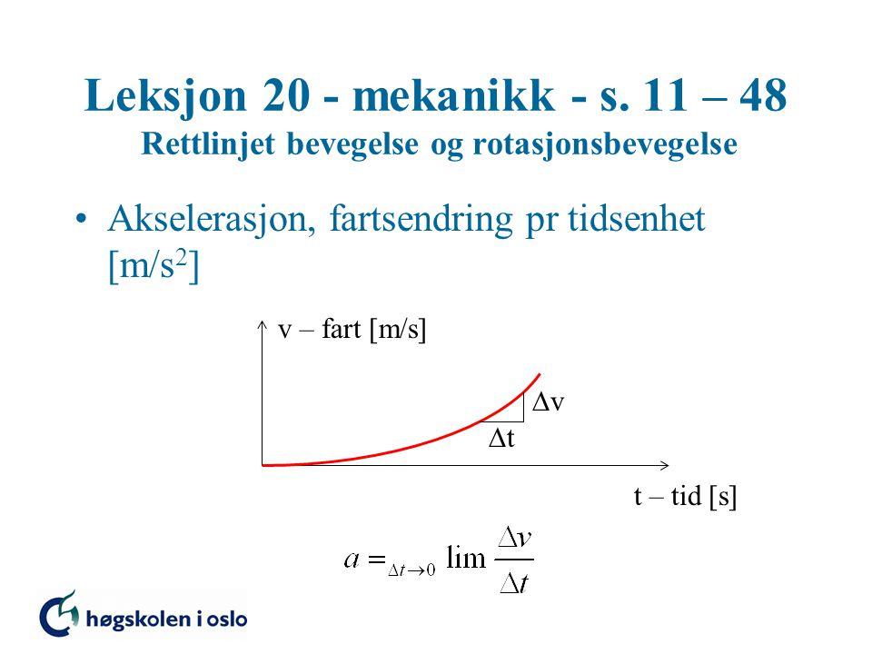 Massetreghetsmoment Massiv sylinder, massetreghetsmoment om A-aksen Steiners formel x z y A