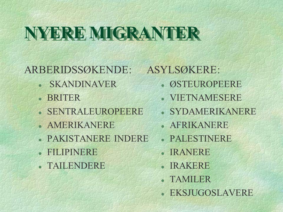 Møtet med innvandreren §Store forskjeller: l Storby l Småby l Bygdesamfunn