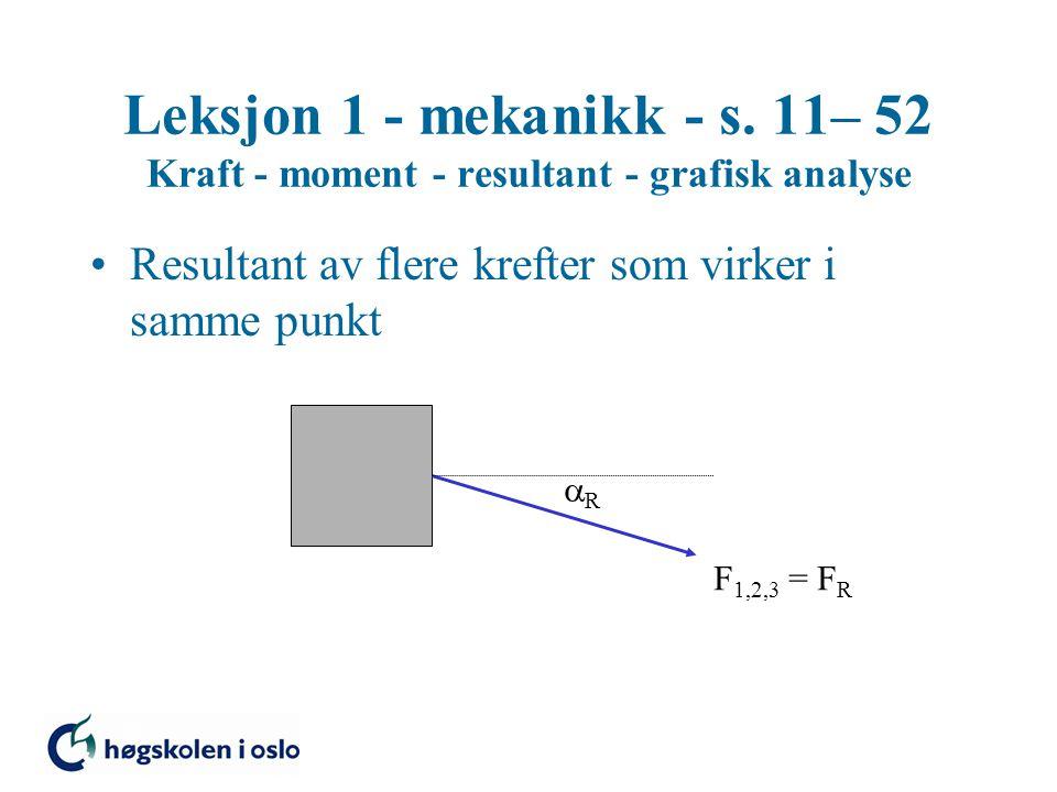 Leksjon 1 - mekanikk - s.