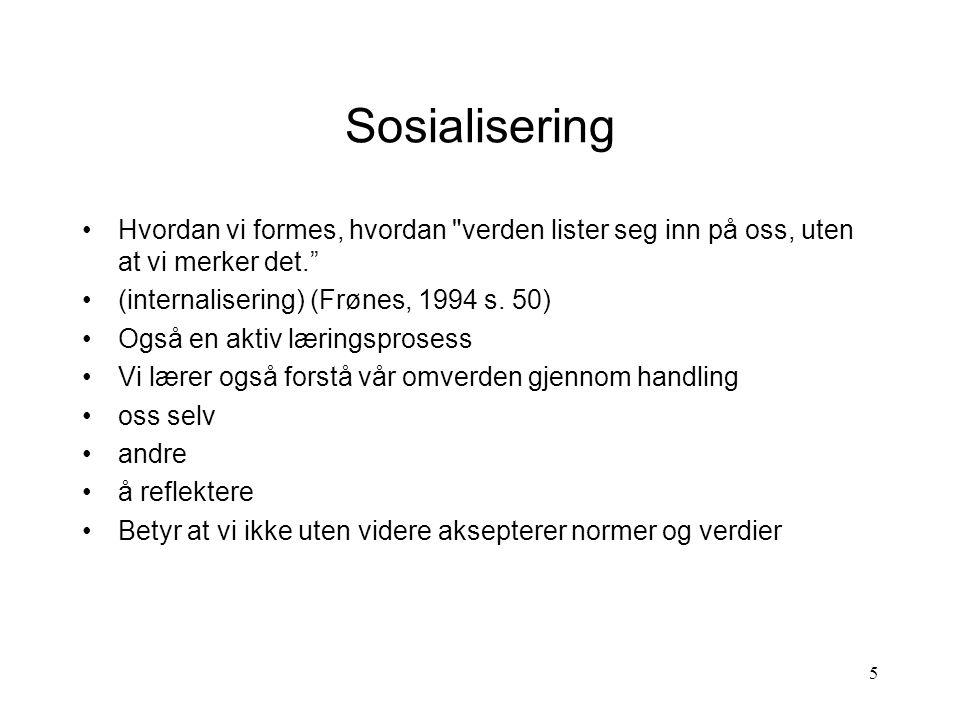 16 Sosiologisk basiskompetanse hva kan de voksne gjøre.