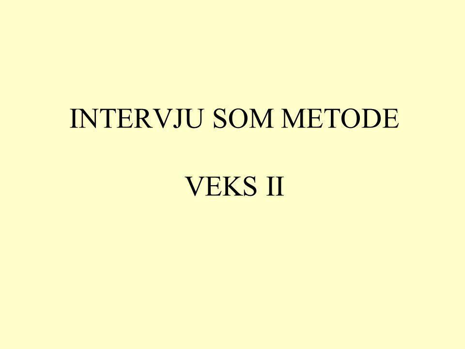 Hva er et intervju.