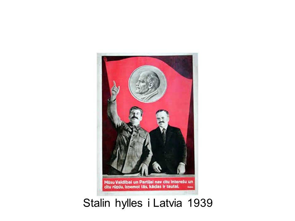 Stalin hylles i Latvia 1939