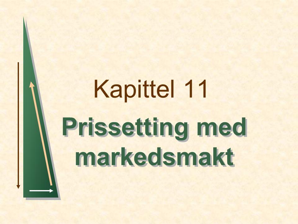 Kapittel 11 Prissetting med markedsmakt