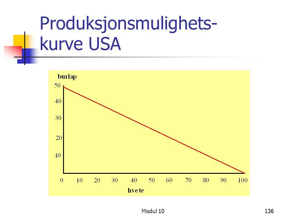 Modul 10136 Produksjonsmulighets- kurve USA