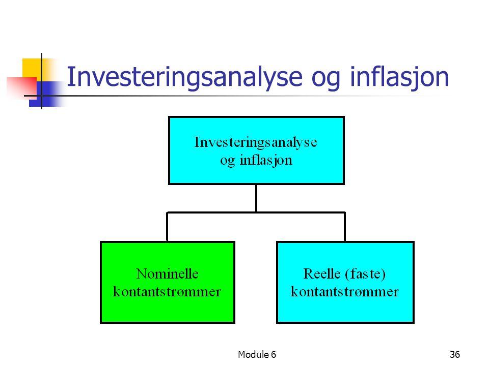 Module 636 Investeringsanalyse og inflasjon