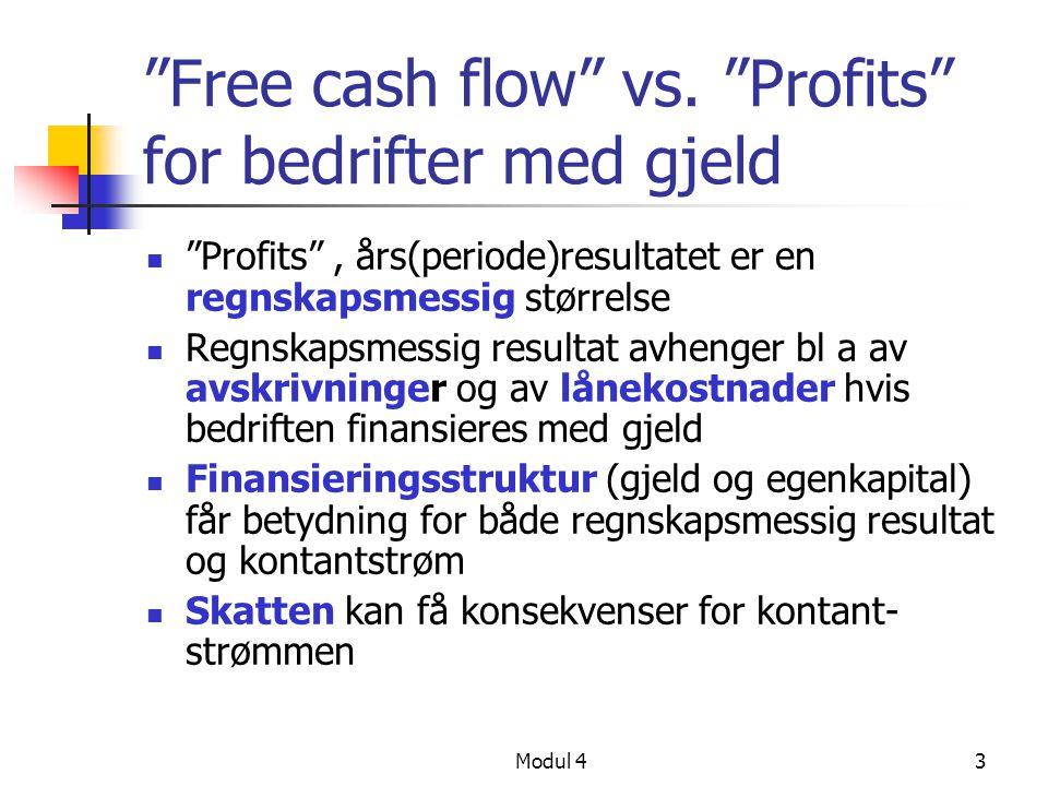 Modul 43 Free cash flow vs.