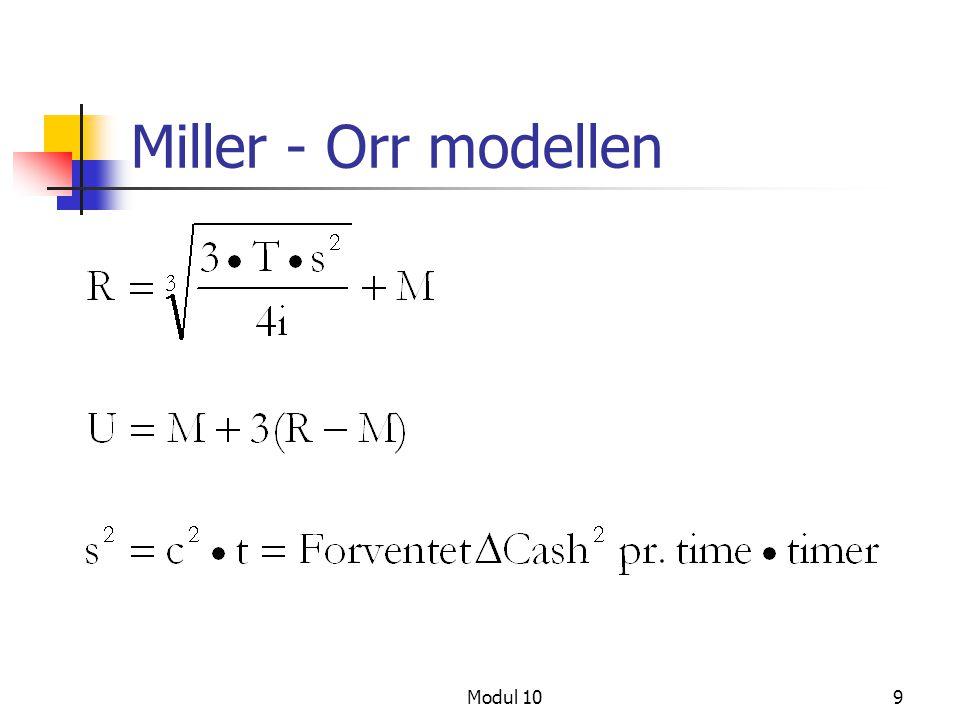 Modul 109 Miller - Orr modellen