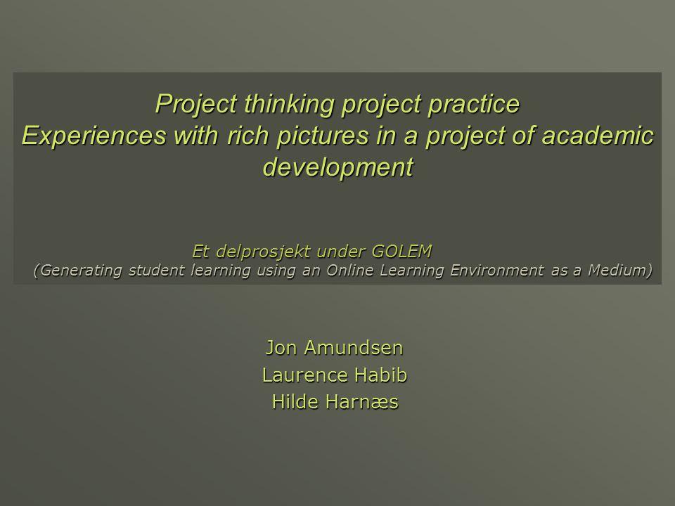 Oversikt  Bakgrunn for prosjektet  Rike bilder som metode  Erfaringer fra et samarbeidsprosjekt