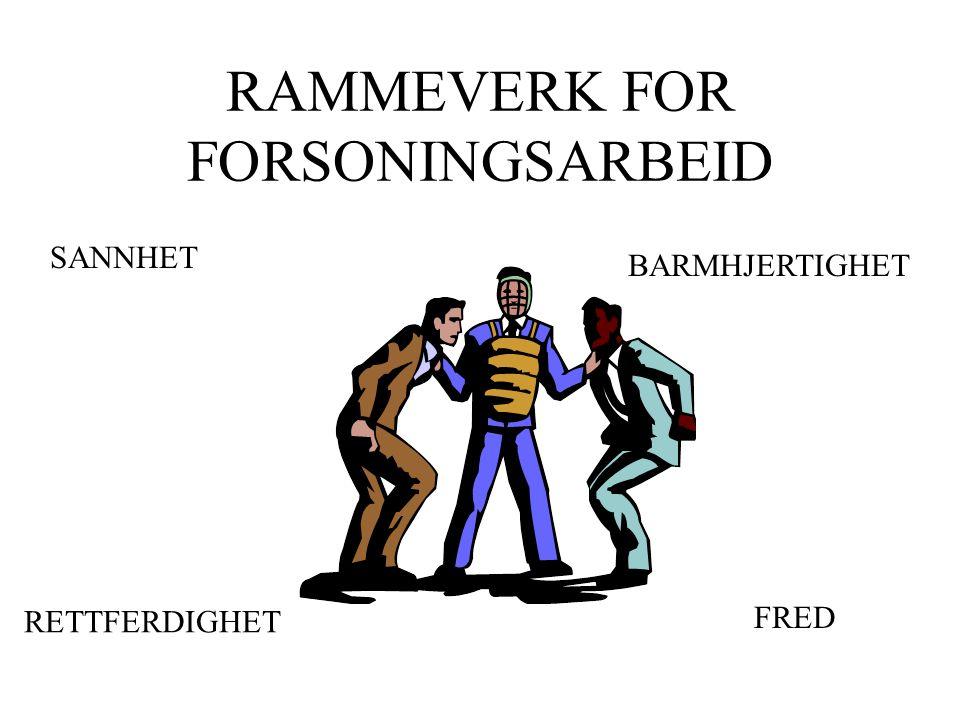 RAMMEVERK FOR FORSONINGSARBEID SANNHET BARMHJERTIGHET RETTFERDIGHET FRED