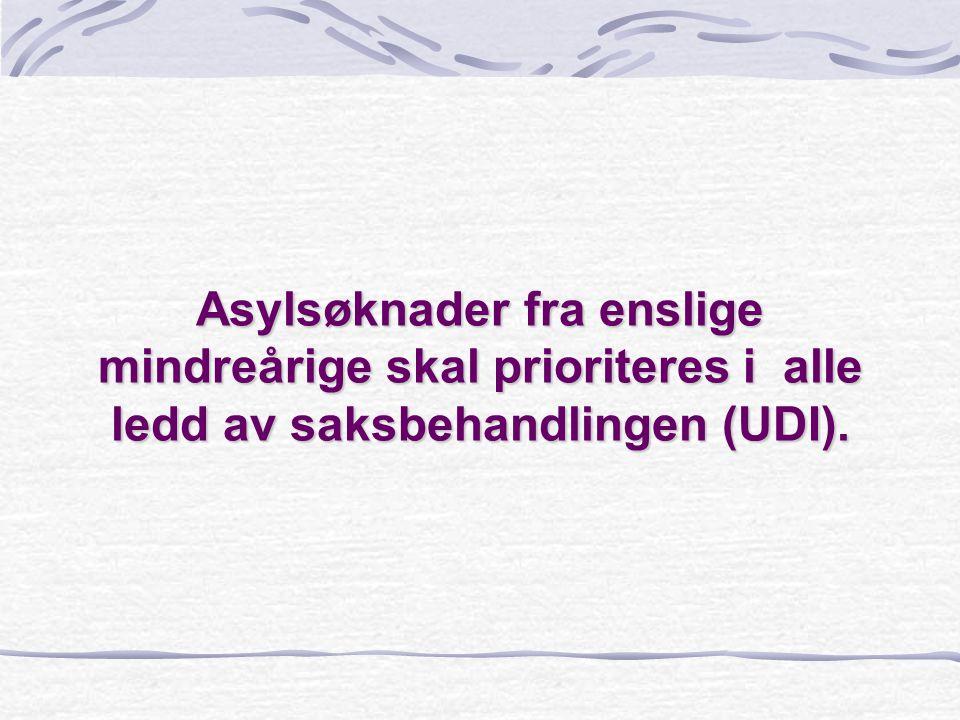 Ankomst av Enslige mindreårige asylsøkere til Norge (UDIs statistikk) 2001 :Totalt 358 2000: Totalt 445 1999: Totalt 561