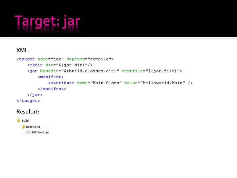 XML: Resultat: