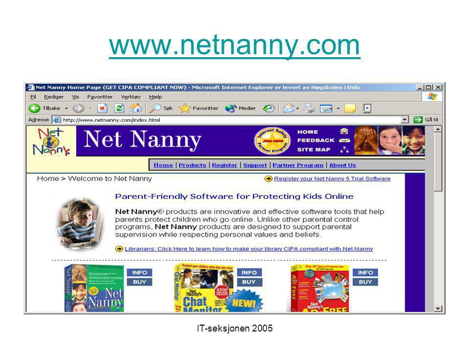 IT-seksjonen 2005 www.kidsurf.no