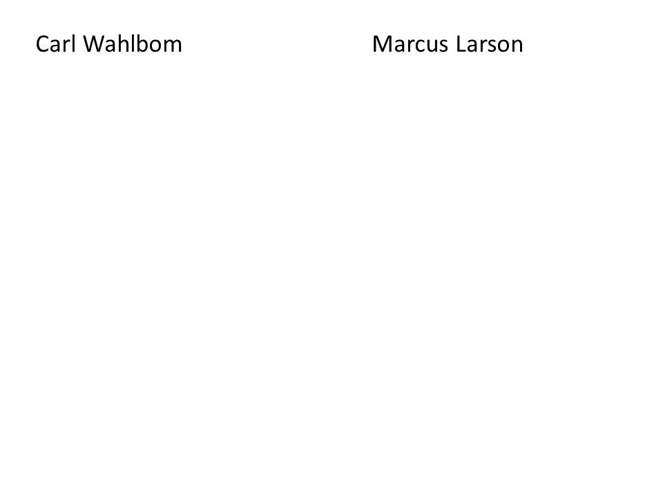 Carl Wahlbom Marcus Larson