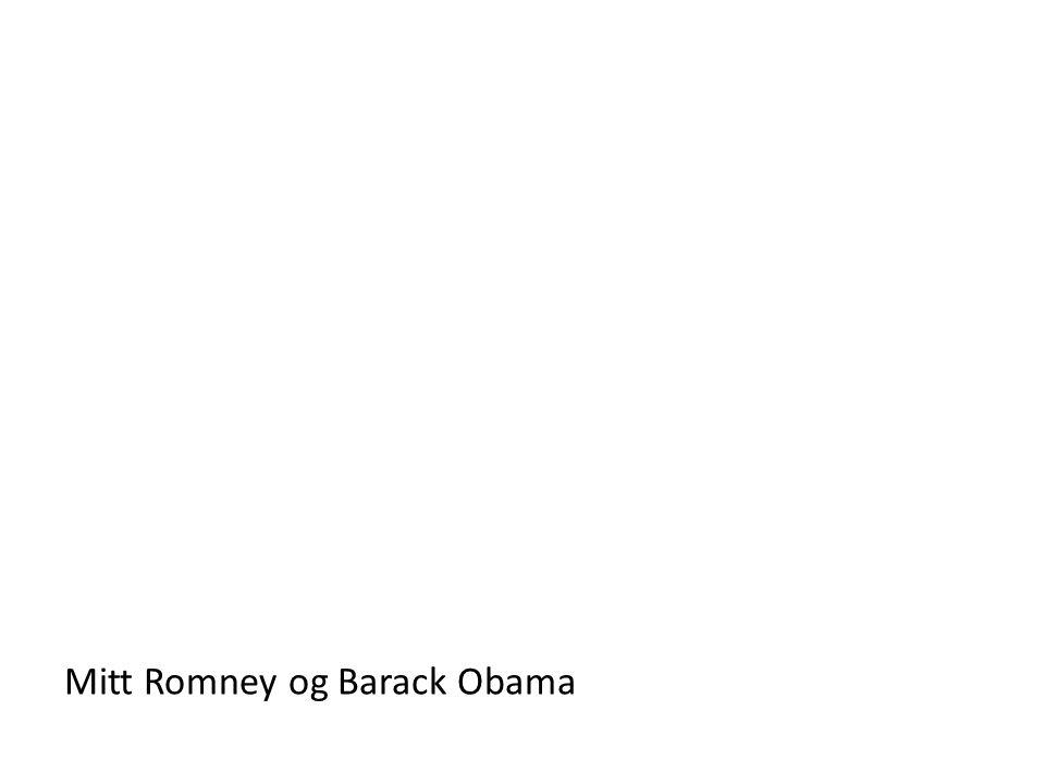 Mitt Romney og Barack Obama