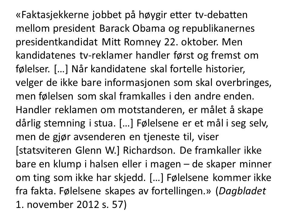 «Faktasjekkerne jobbet på høygir etter tv-debatten mellom president Barack Obama og republikanernes presidentkandidat Mitt Romney 22. oktober. Men kan