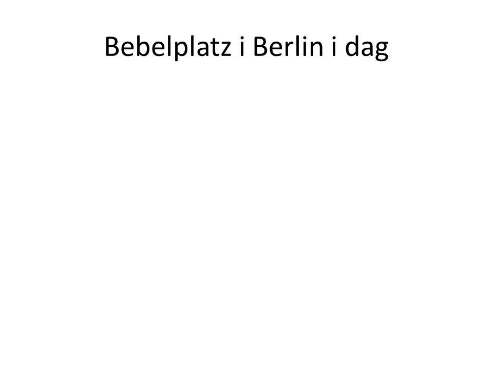 Bebelplatz i Berlin i dag
