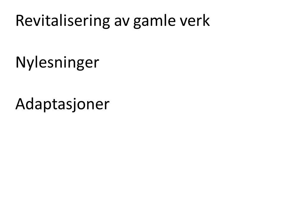 Trond Berg Eriksen: Nordmenns nistepakke (1995) «Kanon er en miniatyrutgave av kulturen, en essens eller et sammendrag […] Den må være representativ, en rettesnor for kvalitet.