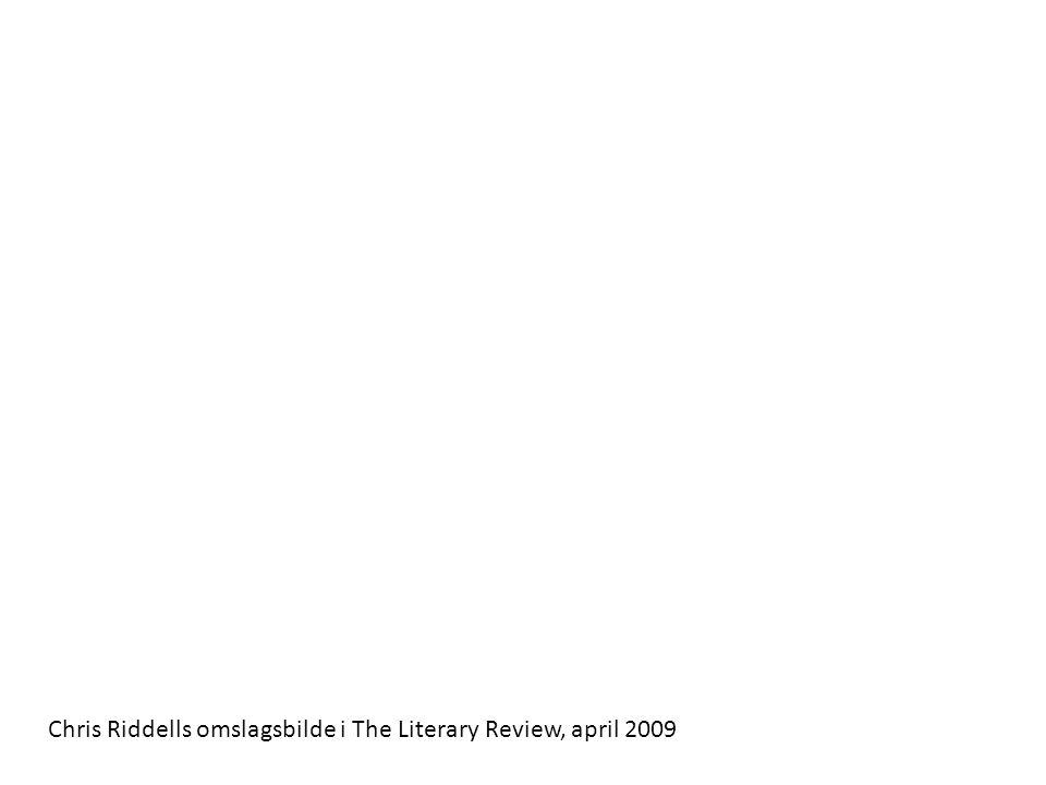 Chris Riddells omslagsbilde i The Literary Review, april 2009