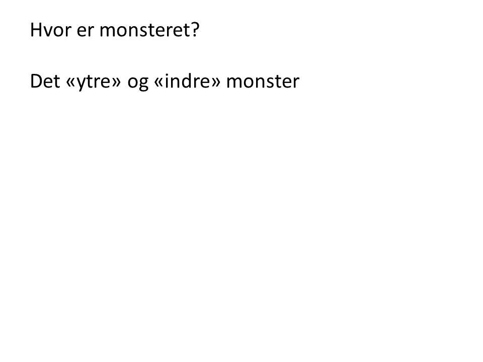 Hvor er monsteret? Det «ytre» og «indre» monster