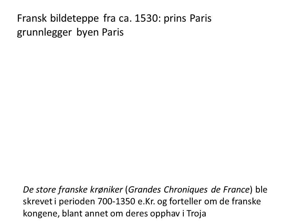 Fransk bildeteppe fra ca.
