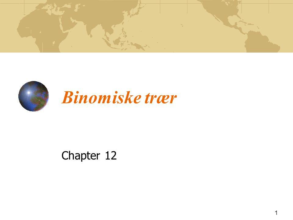 Enkel binomisk modell 12 Anta at vi har at u = 1.1, d = 0.9, r = 0.12, T = 0.25, f u = 1 og f d = 0