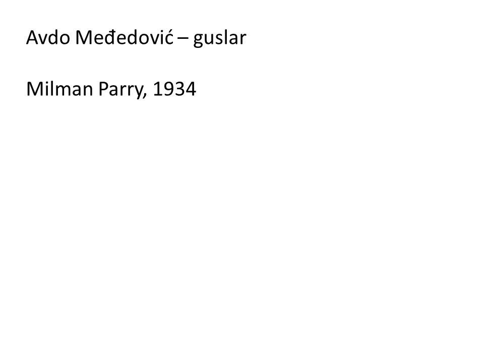 Avdo Međedović – guslar Milman Parry, 1934
