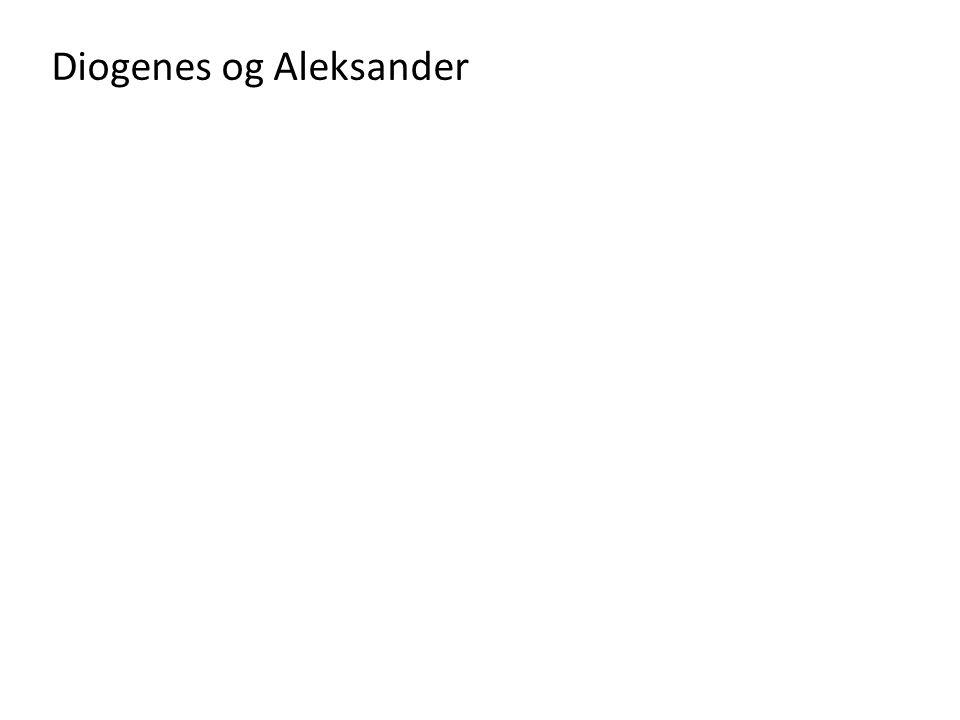 Diogenes og Aleksander