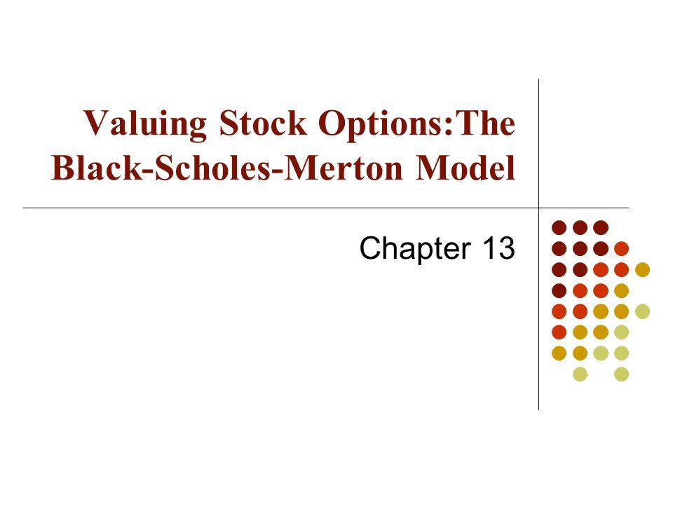 Valuing Stock Options:The Black-Scholes-Merton Model Chapter 13