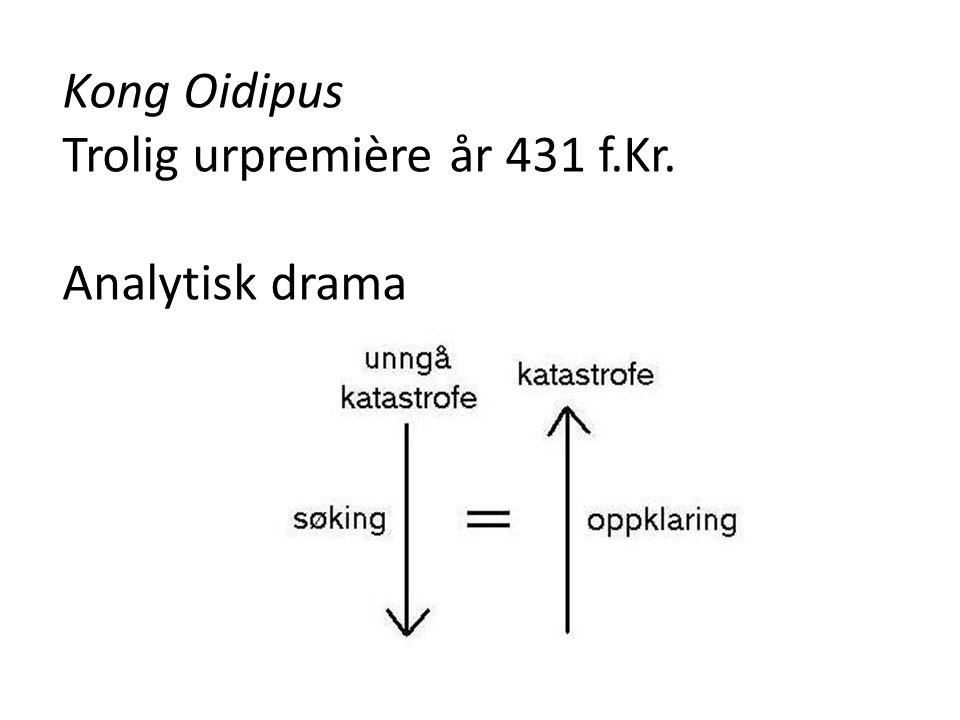 Kong Oidipus Trolig urpremière år 431 f.Kr. Analytisk drama
