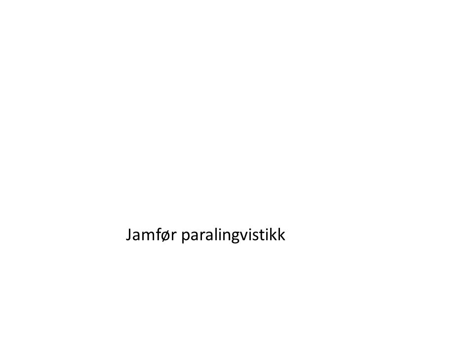 Jamfør paralingvistikk