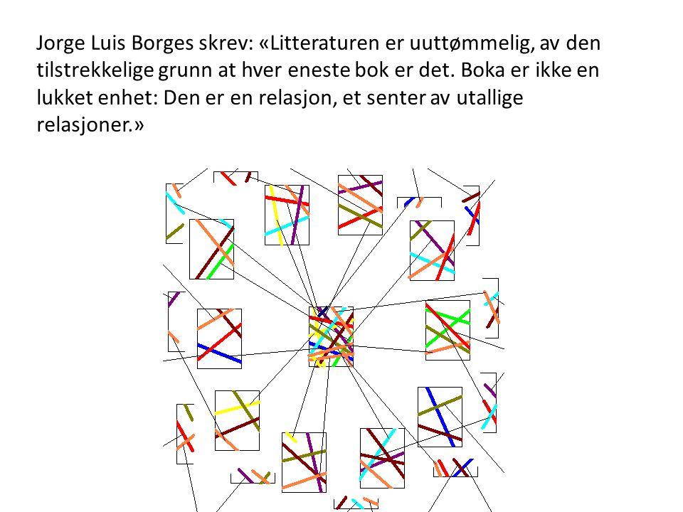 Jorge Luis Borges skrev: «Litteraturen er uuttømmelig, av den tilstrekkelige grunn at hver eneste bok er det.