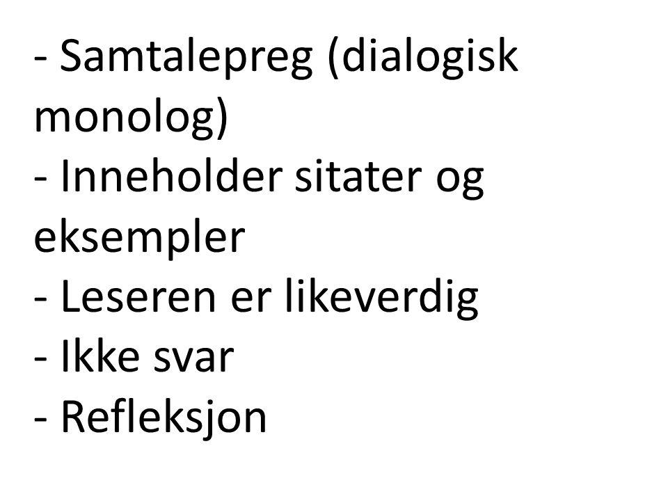 Birgitte H.Midttun: Essayet er den klarest mannsdominerte sjanger som finnes.