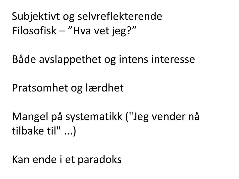 hva er et essay norsksidene
