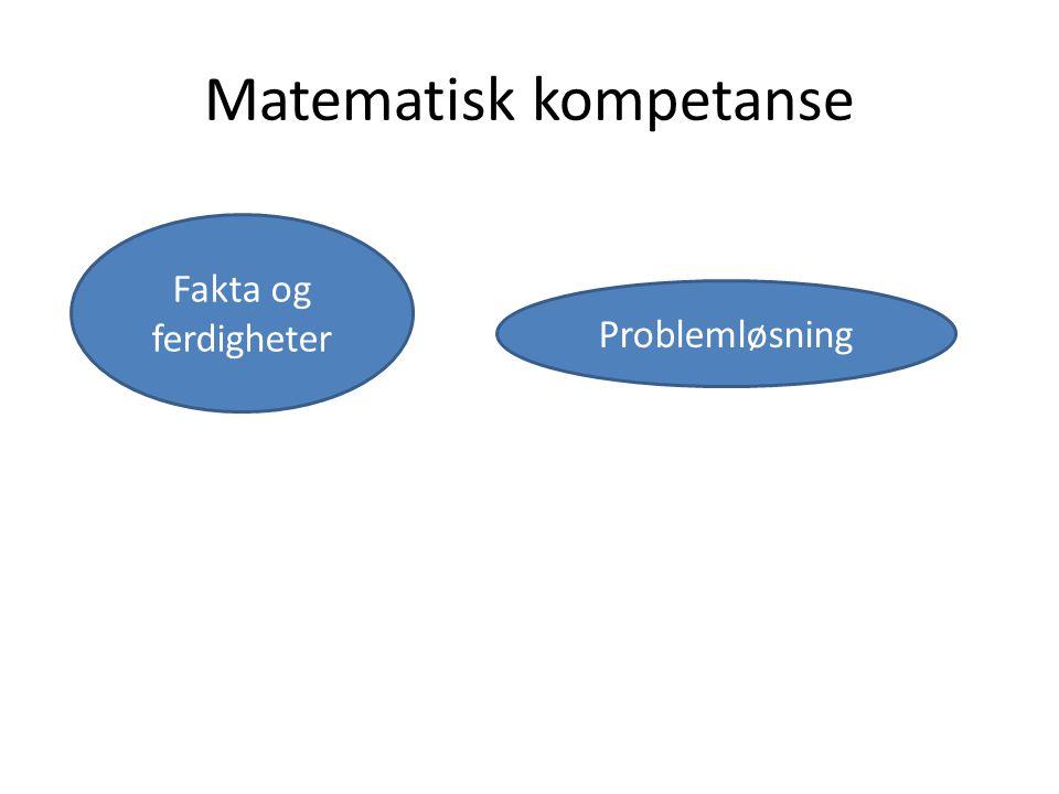 Matematisk kompetanse Problemløsning Fakta og ferdigheter