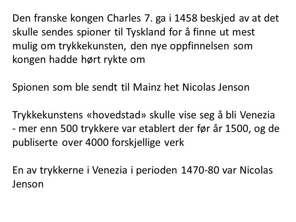Den franske kongen Charles 7.