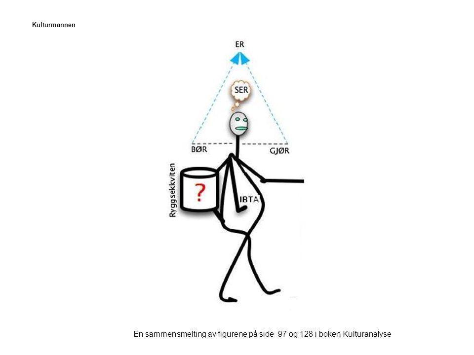Kulturmannen En sammensmelting av figurene på side 97 og 128 i boken Kulturanalyse