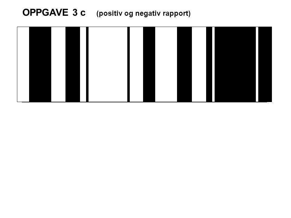 OPPGAVE 3 c (positiv og negativ rapport)