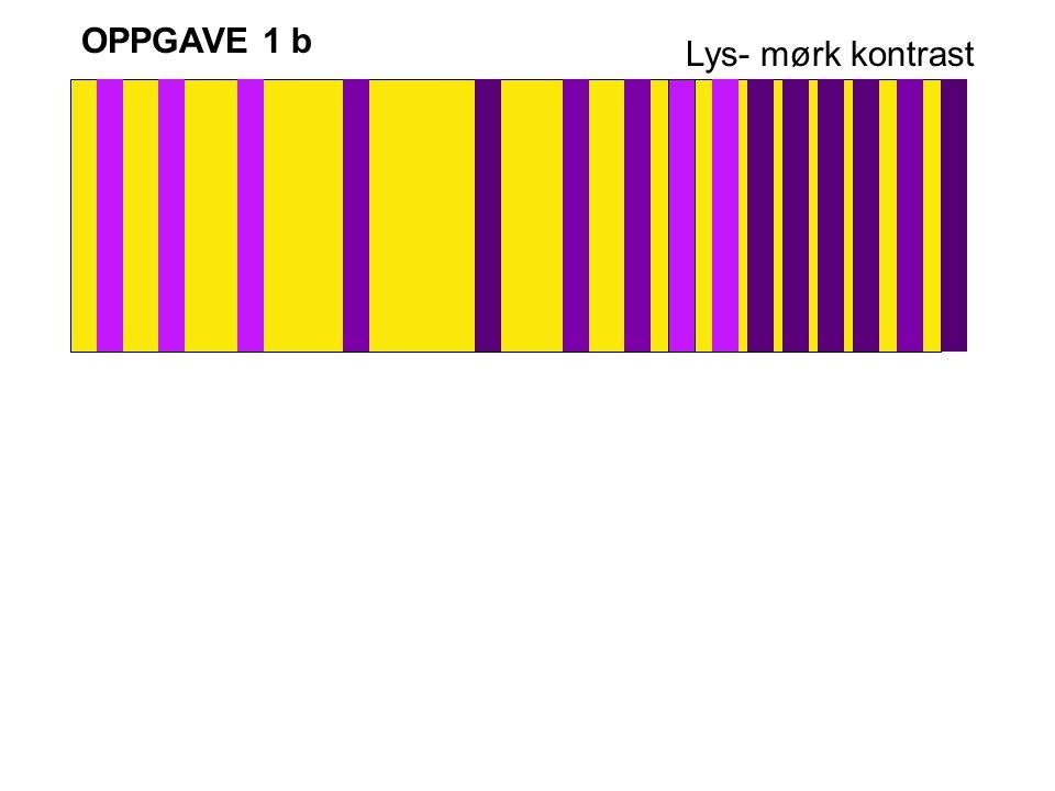 OPPGAVE 1 b Lys- mørk kontrast