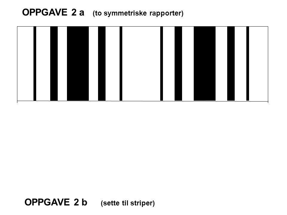 OPPGAVE 2 a (to symmetriske rapporter) OPPGAVE 2 b (sette til striper)