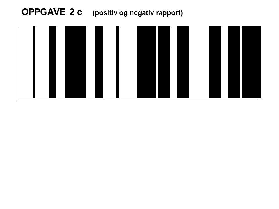 OPPGAVE 2 c (positiv og negativ rapport)